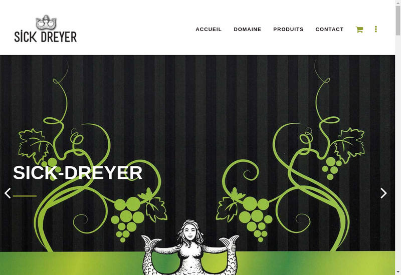 Capture d'écran du site de SARL Sick Dreyer