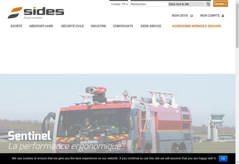Capture d'écran du site de Societe Indust Pour Developp Securite