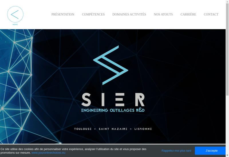 Capture d'écran du site de Societe Industrielle Etudes Realisations