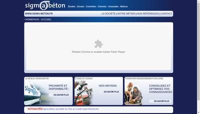 Site internet de Sigma Beton
