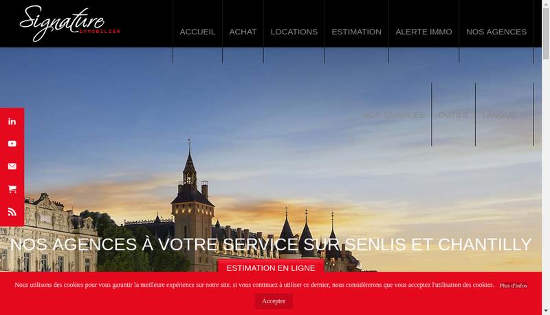 Capture d'écran du site de Signature Immobilier
