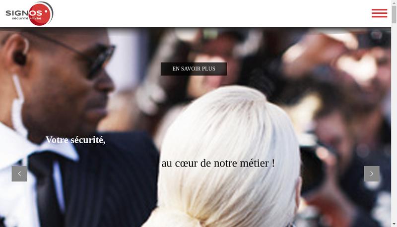 Capture d'écran du site de SARL Signos