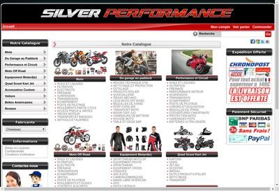 Site internet de Silver Performance