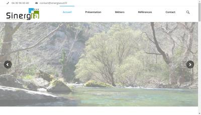 Capture d'écran du site de Sinergia Sud
