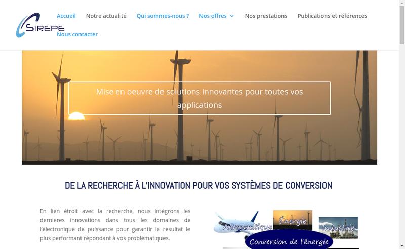 Capture d'écran du site de Sirepe