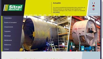 Site internet de Sitral Industrie SA