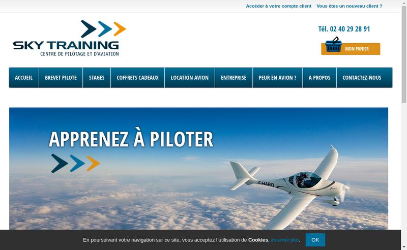 Capture d'écran du site de Sky Training
