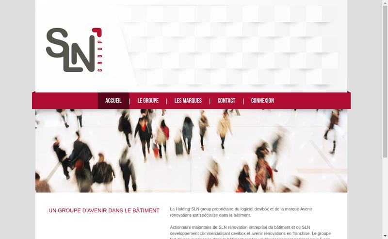 Capture d'écran du site de SLN Group