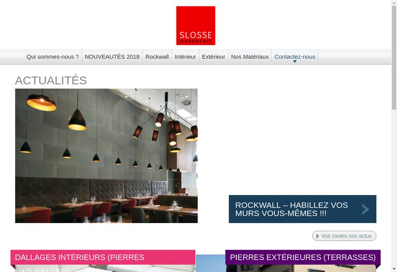 Capture d'écran du site de Slosse