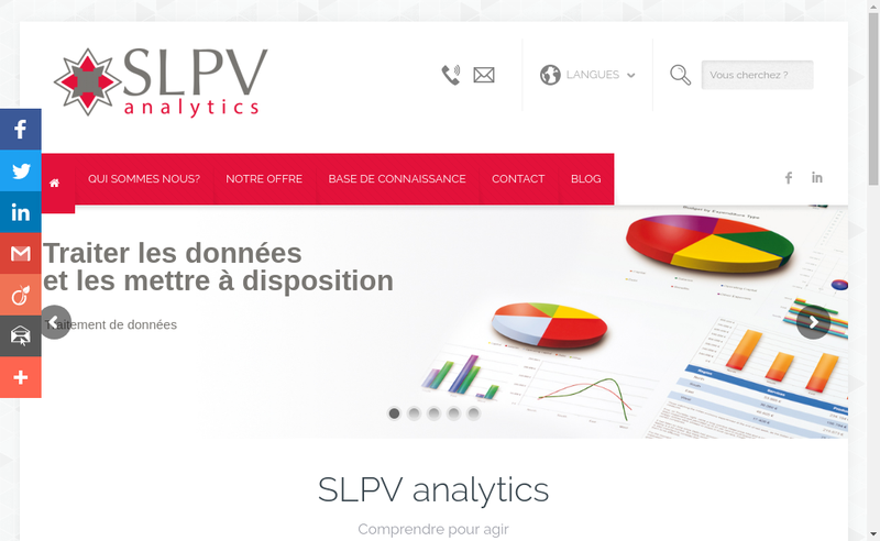 Capture d'écran du site de Slpv Analytics