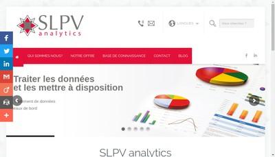 Site internet de Slpv Analytics