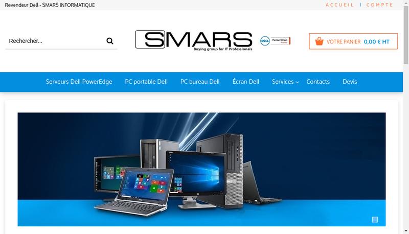 Capture d'écran du site de SMARS Informatique