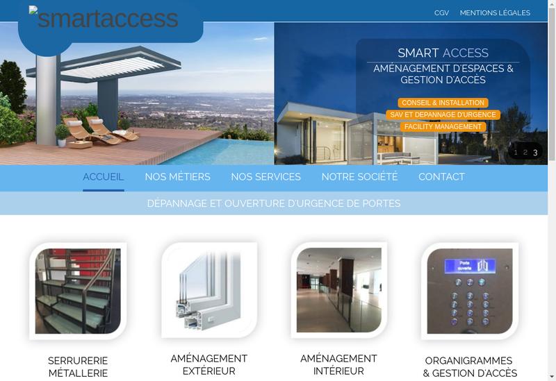Capture d'écran du site de Smart Access
