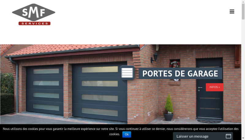 Capture d'écran du site de Smf Services