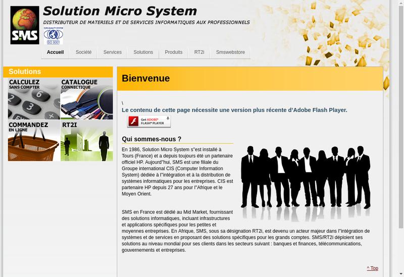 Capture d'écran du site de Rt2 I Reseaux Telecommunications et In