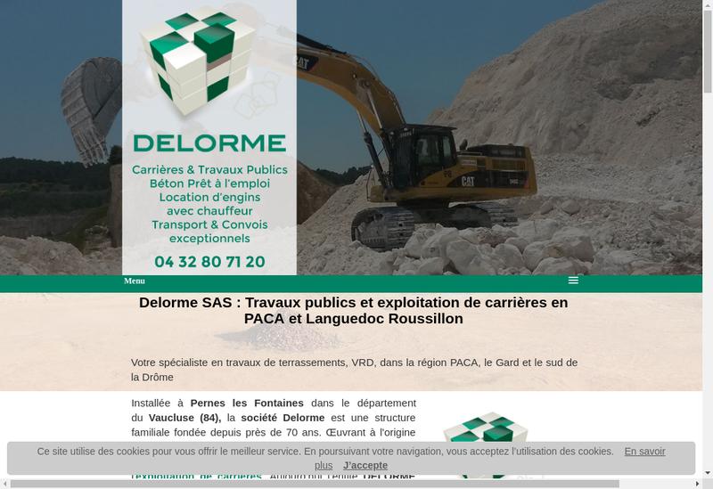 Capture d'écran du site de Delorme