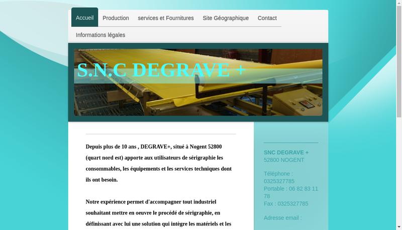 Capture d'écran du site de Degrave +
