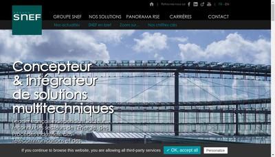 Site internet de Snef