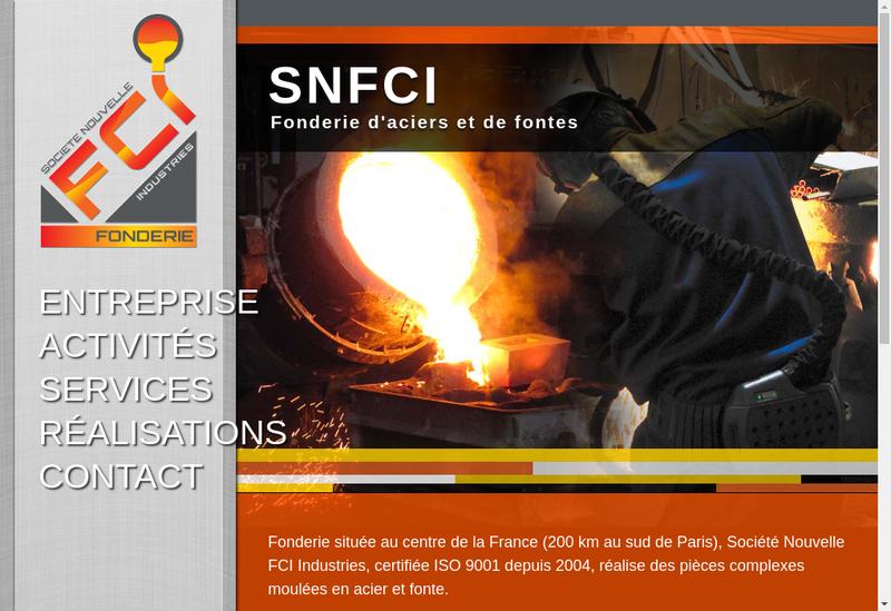 Capture d'écran du site de Societe Nouvelle Fci Industries