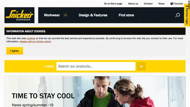Capture d'écran du site de Hultafors Group France