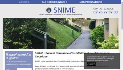 Capture d'écran du site de SAS Snime