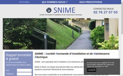 Site internet de SAS Snime