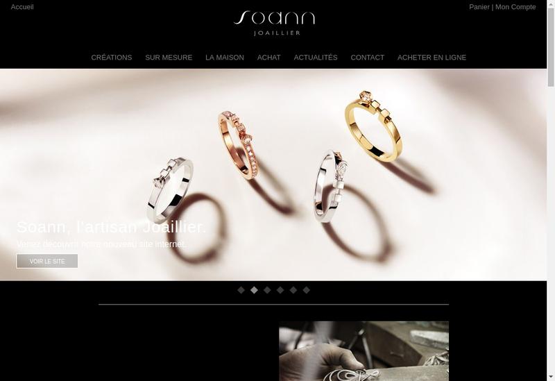 Capture d'écran du site de Soann