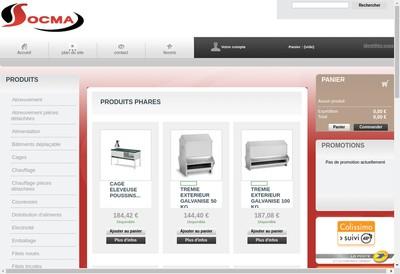 Site internet de Socma Elevages