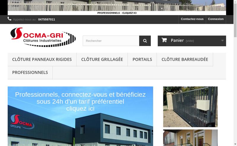 Capture d'écran du site de Socma-Gri
