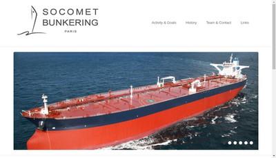 Site internet de Socomet Bunkering