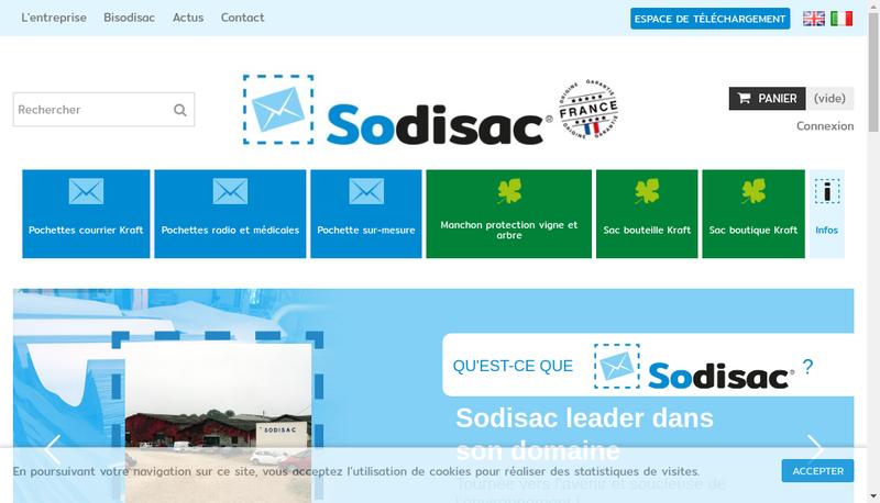Capture d'écran du site de Sodisac