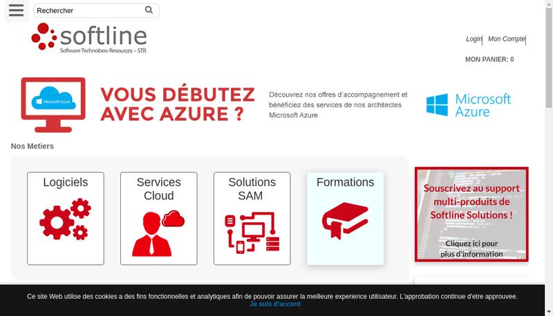 Capture d'écran du site de Softline Solutions France