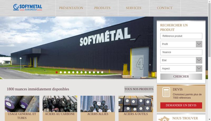 Capture d'écran du site de Sofymetal SA