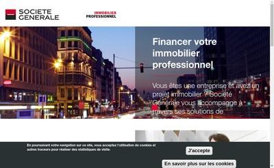 Site internet de Societe Generale pour le Developpement des Operations de Credit-Bail Immobilier Sogebail