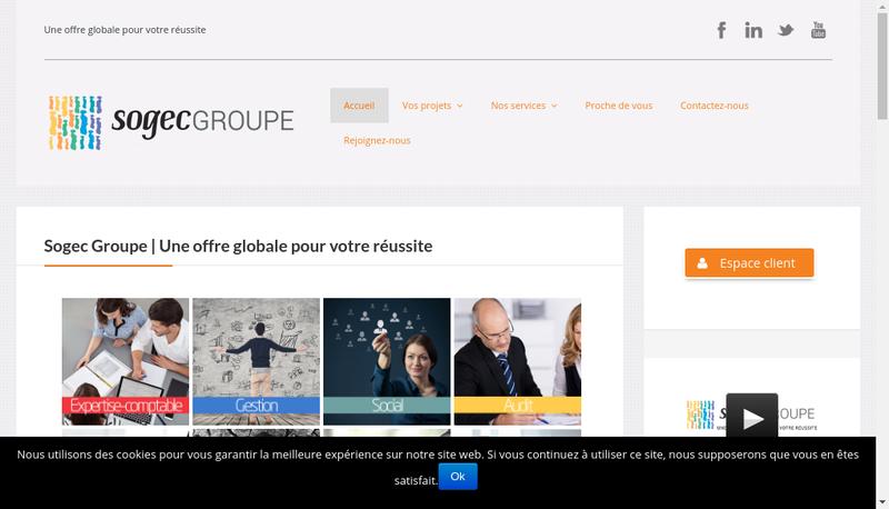 Capture d'écran du site de Sogec Audit