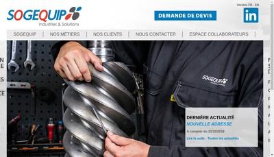 Site internet de Sogequip Industries et Solutions