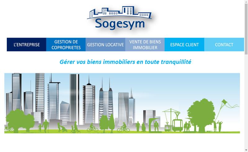 Capture d'écran du site de Sogesym