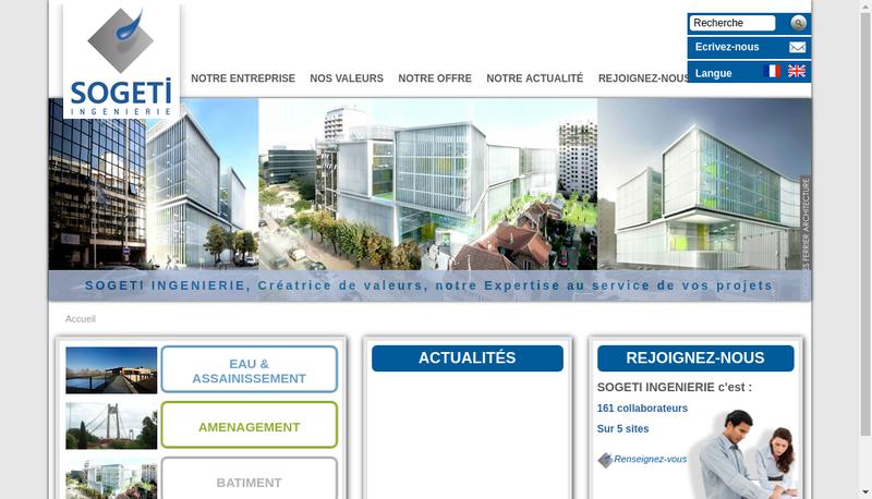 Capture d'écran du site de Sogeti Sa