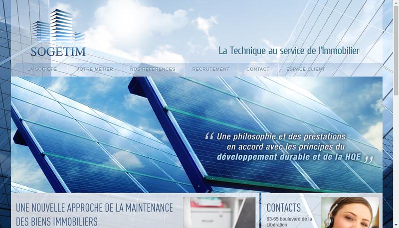 Capture d'écran du site de Sogetim
