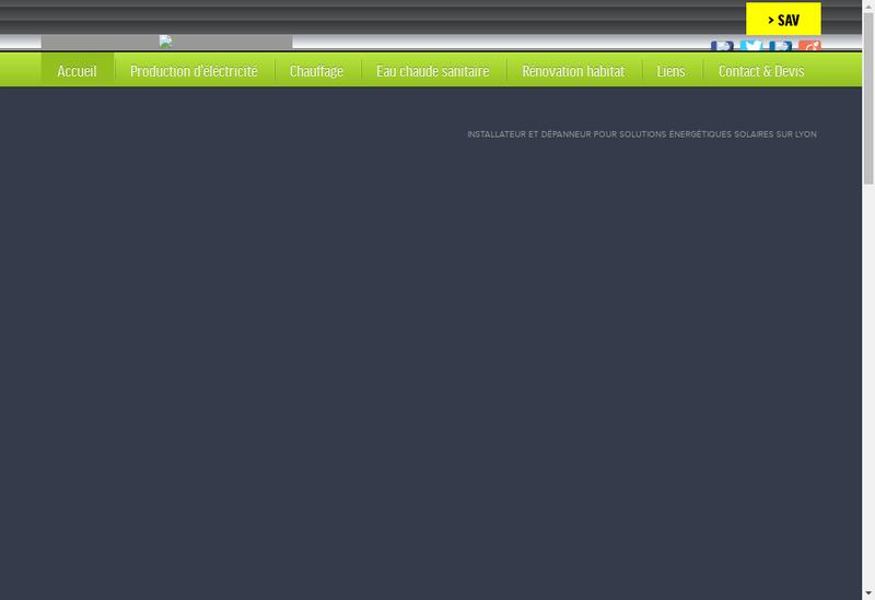 Capture d'écran du site de Solak Energie