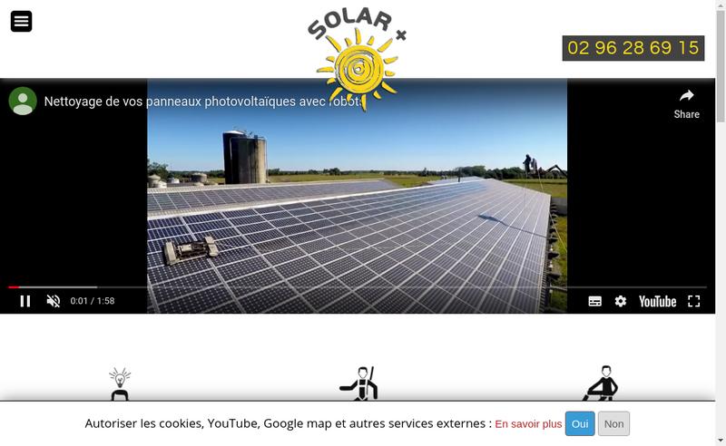 Capture d'écran du site de Solar+