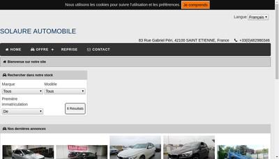 Site internet de Solaure Automobile