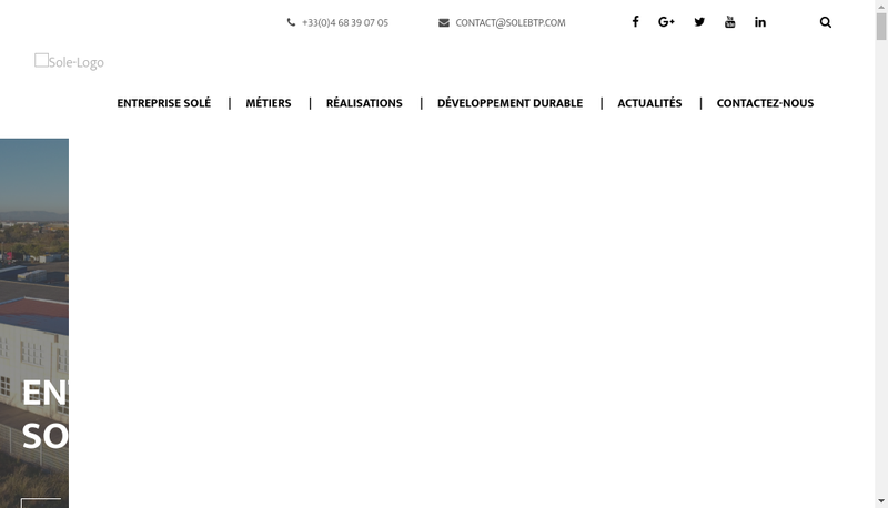 Capture d'écran du site de Sole et Fils
