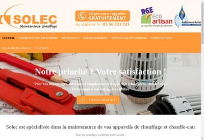 Site internet de Entreprise Solec