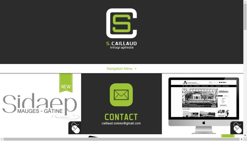 Capture d'écran du site de Solene Caillaud