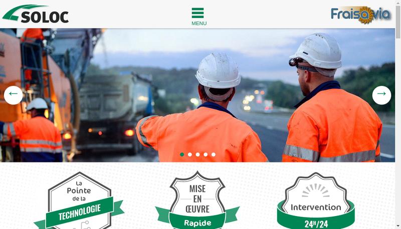 Capture d'écran du site de Soloc Rabotage
