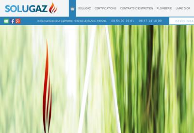 Capture d'écran du site de Solugaz