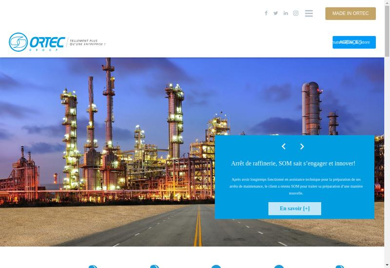 Capture d'écran du site de Som Industrie