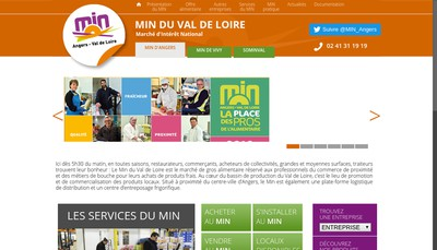 Site internet de Societe d'Economie Mixte pour l'Exploitation du Marche d'Interet National du Val de Loire Sominval