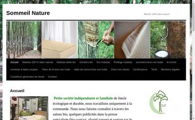 Site internet de Sommeil Nature